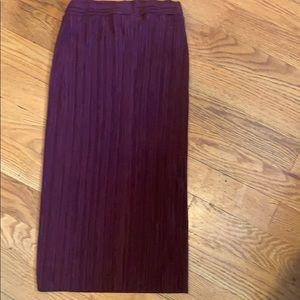 Women's burgundy skirt